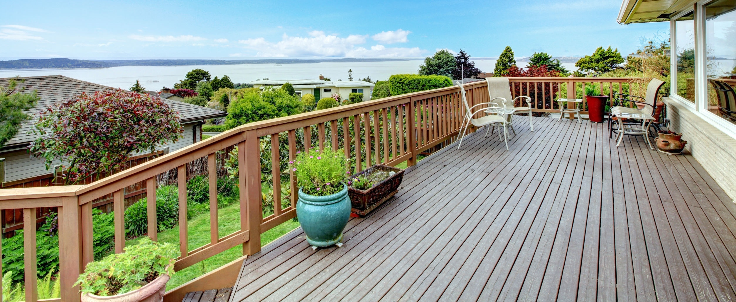 Deck outside of a home